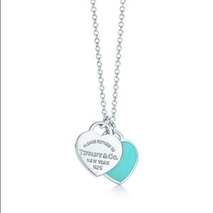 TIFFANY&CO Mini Double Heart Tag Pendant